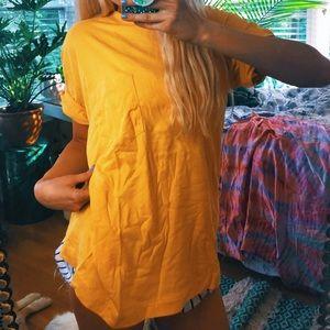 Tops - yellow autumn oversized tee c58